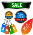 Sale logo set vector image