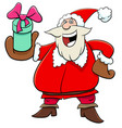santa claus with christmas presents vector image vector image