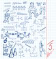 school sheet vector image vector image