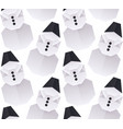 seamless texture with 3d paper origami snowman vector image vector image