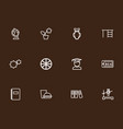 set of 12 editable teach outline icons includes vector image vector image