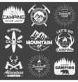 Set of camping equipment symbols vector image vector image