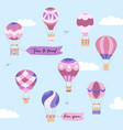 set of of hot air balloons vector image