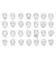 set of peoples faces different emotions painted vector image vector image
