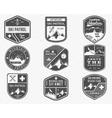 Set of Ski Club Patrol Labels Vintage Mountain vector image
