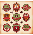 Set of vintage coffee labels vector image vector image