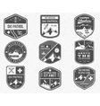 set ski club patrol labels vintage mountain vector image vector image
