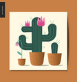 simple things - cacti vector image