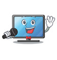 singing lcd tv in shape of mascot vector image