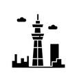 skyscraper black glyph icon urban cityscape tokyo vector image