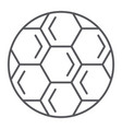 soccer ball thin line icon play and game vector image vector image