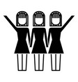 three women holding hands teamwork successful vector image vector image