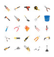 tools flat icon set vector image vector image
