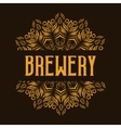 Traditional brewery logo with mandala vector image vector image