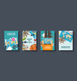 travel and tourism flat style covers set world vector image vector image
