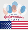 united stated happy independence day lettering vector image vector image