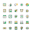 User Interface and Web Colored Icons 8 vector image vector image