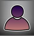 User sign violet gradient