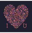 valentine card i love you template with creative vector image vector image