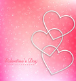 valentines heart in beautiful pink background vector image vector image
