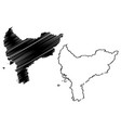 west kalimantan map vector image vector image