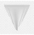 white pennant hanging mockup realistic style vector image vector image