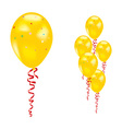 yellow party balloon vector image vector image
