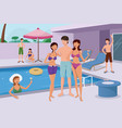 young people having a pool party vector image vector image
