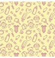 Seamless Baby Background for Baby Shower vector image