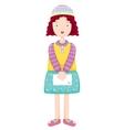 Lovely girl vector image