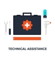 Technical Assistance vector image