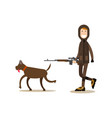 hunter people concept flat vector image