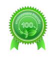 100 environment friendly vector image