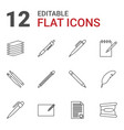 12 pen icons vector image vector image