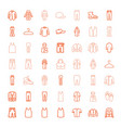 49 casual icons vector image vector image