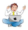 a businessman with an idea vector image vector image