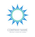 Abstract symmetry circle logo harmony polygon