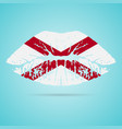 alabama flag lipstick on the lips isolated on a vector image vector image