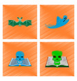 assembly flat shading style icon bat ghost book vector image vector image