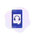audiobook app icon design vector image