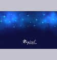 beautiful blue magical stars and bokeh lights vector image