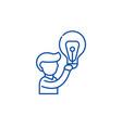 big idea line icon concept big idea flat vector image vector image