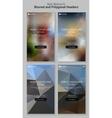 Blurred Polygonal Mobile Landing Page Kit vector image vector image