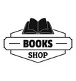 book shop logo simple black style vector image