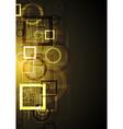 Bright technical design vector image vector image