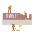 Builders are working vector image