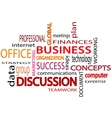 Business related words text White background vector image vector image