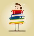 busy librarian vector image