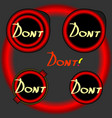button dont button vector image