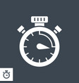 campaign timing glyph icon vector image vector image